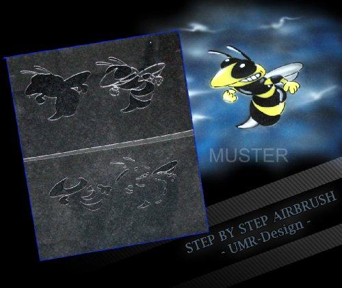 Step by Step Airbrush Schablone Killerbiene AS-018