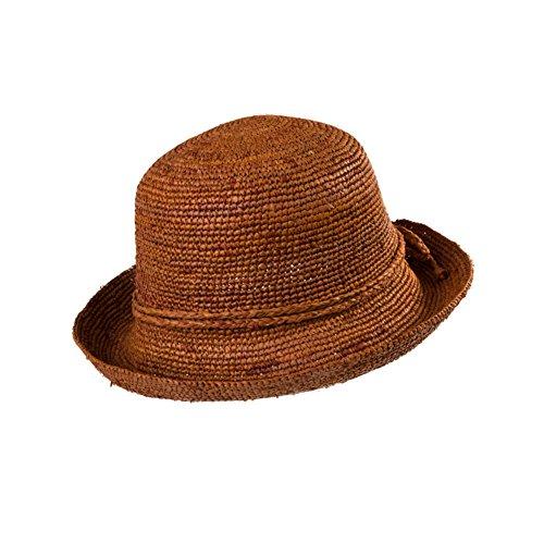 Chapeaux femmes/Rafi en chapeau paille/Chapeaux de la grande plage/Chapeau de soleil pliable/Chapeaux de soleil SPF/Parent-enfant chapeau A
