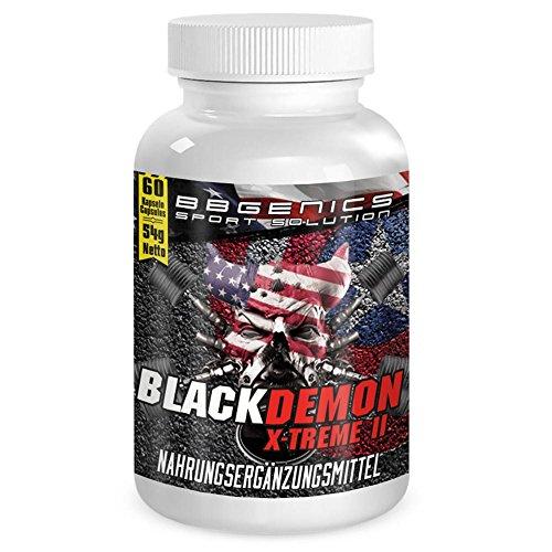 BBGenics, BlackDemon X-Treme II, T-Booster, qualità Maca, Arginina, Tribulus, Zinco, Ferro, Cromo, Vitamina B2, B6, C, 60capsule