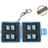Étui de protection Flashwoife Turtle-MSD8 anti-poussière pour cartes mémoire, 8 MicroSD, boitier pour cartes de couleur bleue