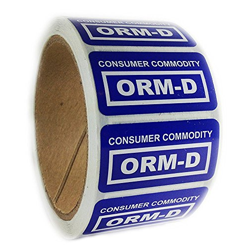 Etikett für Konsumgüter ORM-D, 2,5 x 5,1 cm, Blau, 500 Stück