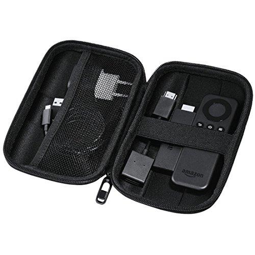 Preisvergleich Produktbild Hama EVA Festplattentasche (geeignet für 6,4 cm (2,5 Zoll) HDD und Zubehör, wasserabweisend, stoßresistent, integriertes Kabelfach, passend für Fire TV Stick 1./2. Generation) Schwarz