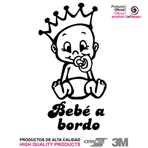 Artstickers® Adhesivo pegatina Bebe a Bordo - BABYFUN COLLECTIÓN 10 COLORES A ELEGIR + REGALO SORPRESA
