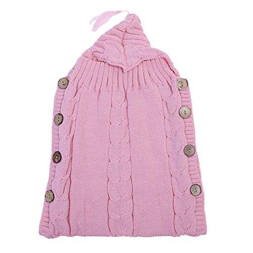 Domybest sacco a pelo invernale sacchi nanna infantile per neonati, 2 colori (rosa)
