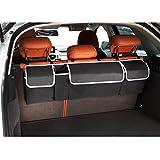 Organizzatore del tronco 2 in 1 - Risparmio di spazio, sedile posteriore automatico e vano bagagli - Adatto a qualsiasi auto o SUV utilizzando cinghie completamente regolabili di LOONG