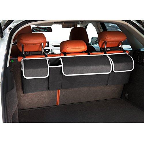Kofferraum Organizer mit Klett - Wasserdichtes Oxford | Der Platzsparer für mehr Ordnung im Auto by LOONG