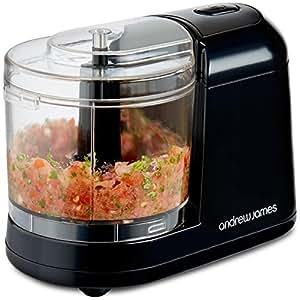 Andrew James Mini Chopper Small Food Processor for Baby Food & Vegetables Etc | 400ml Blender Bowl & Dishwasher Safe Chopping Blades | 150W | Black