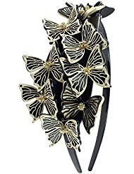Image of Alexander De Paris Butterfly Headband in Rainbow - Comparsion Tool
