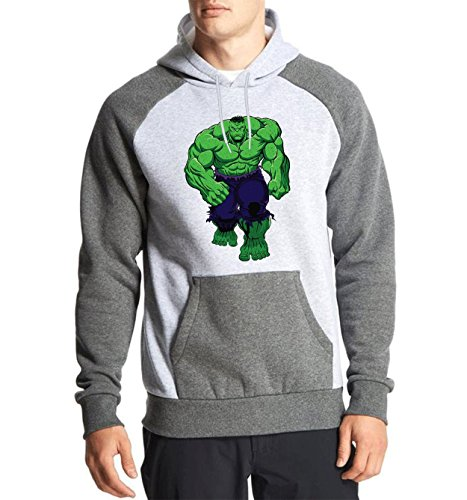 Fanideaz Cotton Full Sleeves Giant Hulk Hoodies For Men Premium Sweatshirt_Charcoal Melange_M