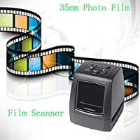 "Escáner fotográfico de Alta resolución de Alta resolución de Printe Escáner de película de Diapositiva de 35 mm / 135 mm Transductor de película USB Digital Pantalla LCD de 2.36"""