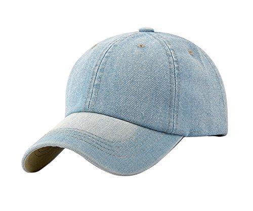 Leisial Ocio Gorra de Béisbol de Vaquero Color Sólido Ajustable del  Sombrero al Aire Libre Hats bd044d1948d