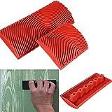Bloomma - Molde de veta de goma, juego de herramientas para la casa de madera granulada, para madera