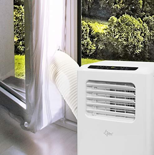 SUNTEC Air-Block-Klima Sail [Zubehör-Set für mobile lokale Klimageräte, Praktisches Segel zur Abdichtung von Fenstern/Türen inklusive Reißverschluss-Öffnung, Einfache Fixierung + Rückstandslose Entfernung] - 4