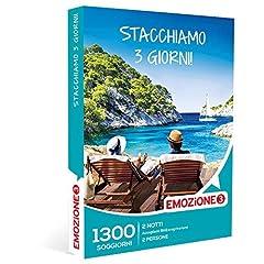Idea Regalo - Emozione3 - Stacchiamo 3 Giorni! - 1300 Divertenti Soggiorni In Accoglienti B&B Ed Agriturismi Italiani, Cofanetto Regalo