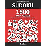 Sudoku: 1800 Hard Puzzles To Keep Your Brain Active For Hours: Active Brain Series Book