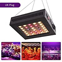 Honelife AC 220 V 600W 60 PCS LED Full Spectrum Plant Growth Light Growing Lamp Kit Set Serial Connecting Connection IP44 Water Resistance for Indoor Outdoor Use GreenHouse Balcony Farm Portable