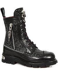 New Rock Boots Unisex NEWROCK NR M.NEWMILI114 S1 Schwarz Stiefel