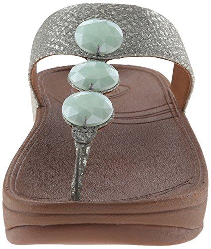 Fitflop Petra (cuir), Sandali Donna Blu (bleu (bleu Lac))
