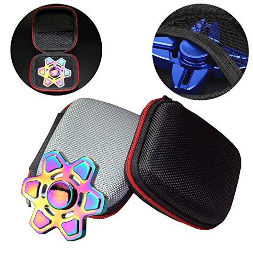 Preisvergleich Produktbild Webla Geschenk für Fidget Hand Spinner Dreieck Finger Spielzeug Focus ADHD Autismus Tasche Box Tragetasche Packet(Senden Sie das Produkt zufällig)