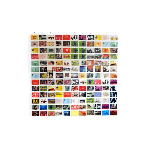 HAB & GUT (DV005) Duschvorhang / Bildervorhang mit 143 Taschen, Taschengröße: 11 x 15,5 cm, Länge 175 cm, Breite 175 cm