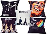 Music Best Deals - meSleep Digitally Printed Music 5 Piece Cushion Cover Set - Multicolor