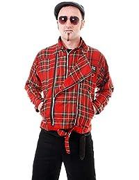 Red and Blue Tartan Bondage Split Skirt by Tiger of London Punk//Goth
