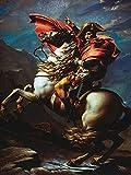 Artland Qualitätsbilder I Alu Dibond Bilder Alu Art 30 x 40 cm Menschen historische Persönlichkeiten Malerei Gold C3AZ Napoleon überquert die Alpen Mai 1800 1802