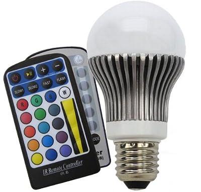 Chilitec LED Glühlampe E27 RGB mit Fernbedienung-5W, Abstrahlwinkel 120°, AGL-Form von ChiliTec GmbH bei Lampenhans.de