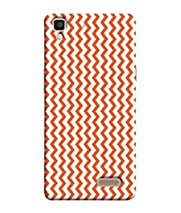 PrintVisa Designer Back Case Cover for Oppo R7 :: Oppo R7 Lite (Orange Wavy Design)