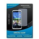 SWIDO Bildschirmschutzfolie für HTC Desire 526G Dual SIM [3 Stück] Kristall-Klar, Extrem Kratzfest, Schutz vor Öl, Staub & Kratzer/Glasfolie, Bildschirmschutz, Schutzfolie, Panzerfolie