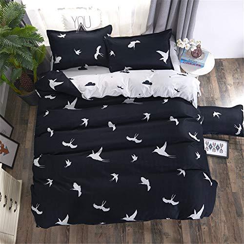 YUNSW Bettwäsche Set Bettbezug Set Federbedruckte Kissenbezüge Bunte Heimtextilien A 180x220cm -