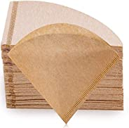 فلاتر القهوة بتصميم مخروطي في 60 من بيترلايف، 2-4 اكواب فلاتر القهوة الطبيعية فلاتر ورقية غير مُبيضة في 02، مت
