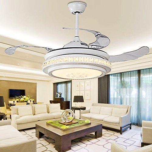 invisibile ventilatore ventilatore plafoniere/ soggiorno con lampadario ventilatore/Camera da letto minimalista moderna sala da pranzo (Invisibile Opaco)
