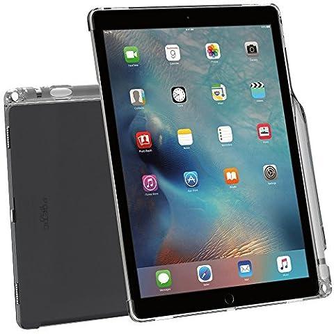 Coque iPad Pro 12,9 , Poetic [Transparent] [Compatible avec le clavier] [porte-crayons] élégant mince en TPU pour iPad Pro 12,9 (2015) avec porte-crayons et compatible avec le clavier Smart d'Apple Transparent Gris (Garantie 3 ans du Manufacturier de Poetic)