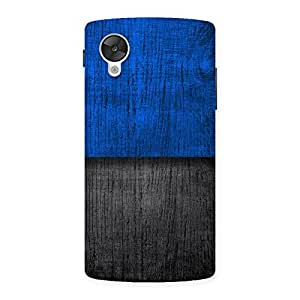 Delighted Blue Black Print Back Case Cover for Google Nexsus 5
