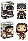 Funko Pop! Justice League: Batman + Wonder Woman – DC Vinyl Figure Set New