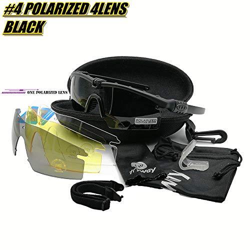 Tactical Professional Lunettes de protection balistique M 3.0 militaire Strike Lunettes UV400 Lunettes de l'armée Airsoft vue Gafas Sports de plein air polarisées randonnée Cyclisme Paintball Eyewear
