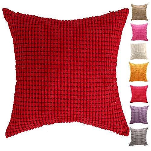 AOZHOME Kissenbezug Kissenbezug Sofa Auto Dekoration – 9 modernen Uni-Farben und 10 Größen