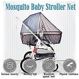 HUABEI Mückennetz für Kinderwagen Universal, Buggy, Reisebett   idealer Schutz vor Wespen & Stechmücken dank feinem Netzgewebe   PREMIUM QUALITÄT: reißfest & waschbar, braun