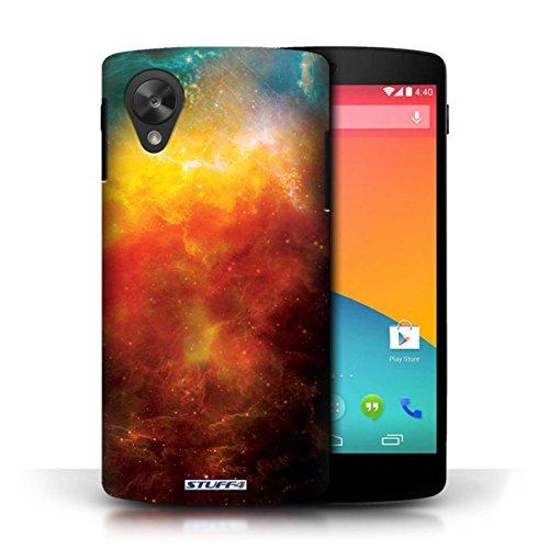 Kobalt® Imprimé Etui / Coque pour LG Google Nexus 5/D821 / Éclipse Vert conception / Série Cosmos Nébuleuse Orange