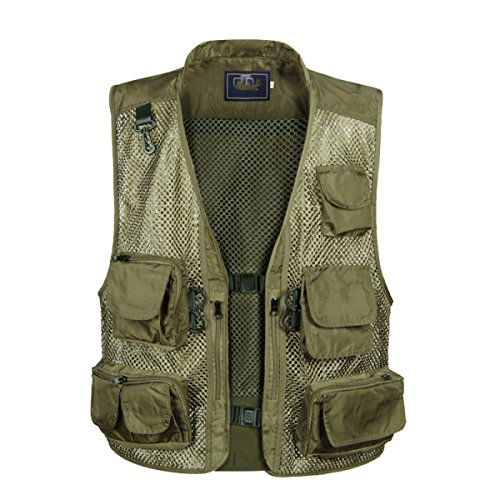GLF Summer Camouflage Mesh Fotografia Camera Vest Multi-tasca Outdoor Casual Pesca Multifunzione Cavallo Clip B