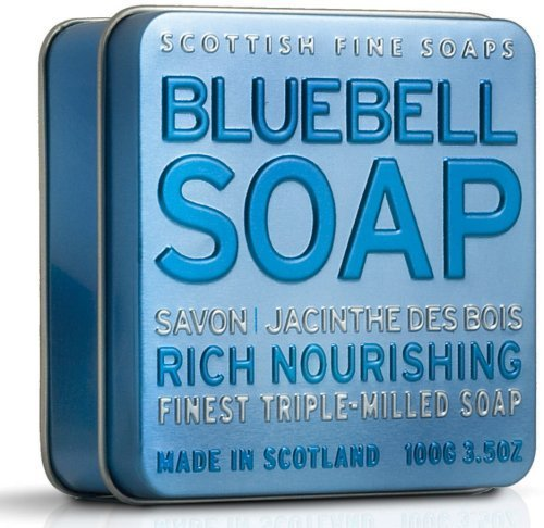 Scottish Fine Soaps Bluebell Soap 100g in Tin by Scottish Fine Soaps