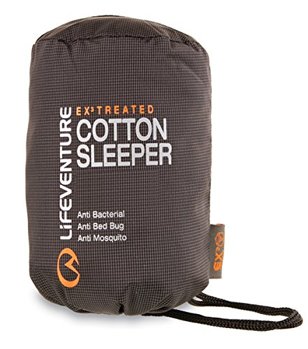 Lifeventure – Ex Cotton Travel Sleeper Mummy, Couleur Charcoal