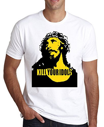 Kill Your Idols Jesus Design Men's T-Shirt Medium