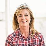 Frcolor Krone Geburtstag 60 Diadem Tiara mit Haarkamm Kristall Strass Silber Geburtstagsgeschenk 60 Jahre für Frauen - 8