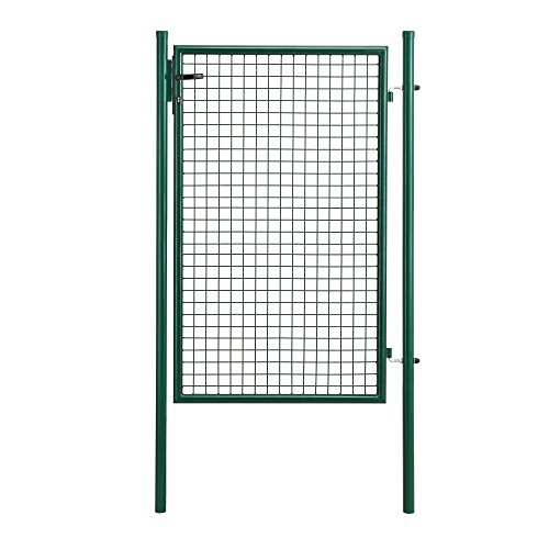 [pro.tec]® Porta per il giardino verde portone giardino recinto rete giardino porta