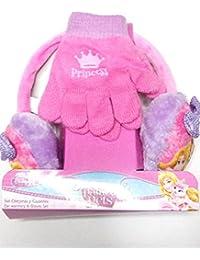 Palace Pets 2200000379 - Set de orejeras y guantes para niños, color rosa, talla única