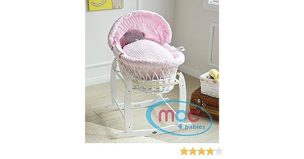 Mcc® komplettset moses weidenkorb baby korb in natur mit matratze