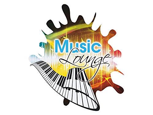 GRAZDesign 881001_57 Wandsticker Wandtattoo Wandaufkleber Musik Lounge Klavier Tasten Spruch...
