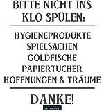 CLICKANDPRINT Aufkleber » Bitte nicht ins Klo spülen:, 20x18,6cm, Anthrazit Metallic • Dekoaufkleber / Autoaufkleber / Sticker / Decal / Vinyl